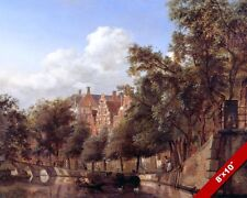 HERENGRACHT AMSTERDAM NETHERLANDS LANDSCAPE PAINTING ART REAL CANVAS PRINT