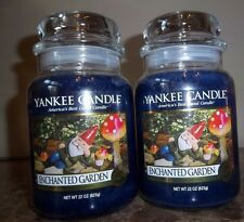 Yankee Candle  Enchanted Garden  22 oz. Lot of 2 Candles   Free Shipping