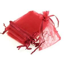 25/50/100PCS Sheer Organza Wedding Party Favor Gift Candy Bags Jewelry Pouches