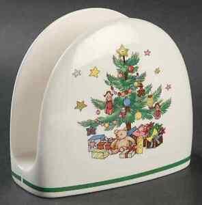 NIKKO CHRISTMASTIME Napkin Holder Christmas Tree Holiday BONE CHINA NEW