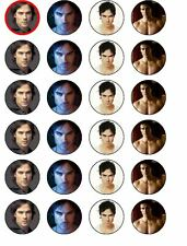 24 X DAMON SALVATORE PARTY BIRTHDAY RICE/ WAFER PAPER CAKE TOPPERS