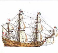 VINTAGE HISTORICAL SAILING SHIP PRINT ~ TRIUMPH 1654