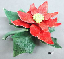 Lenox Garden Flower Series Red Poinsettia Sculpture - New In Box