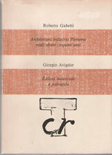 GABETTI , AVIGDOR_ARCHITETTURA_INDUSTRIA_PAESAGGIO_1977