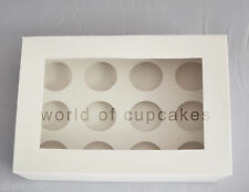 12 Hole Mini 4.5 cm Diameter Cupcake Cup Cake Clear Window Boxes Box set of 10