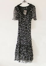 BNWT silk frill dress size 8 OGGI COLLECTION for cocktail work leisure