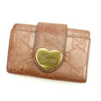 Gucci Key holder Key case Guccissima Pink Gold Woman Authentic Used C2206