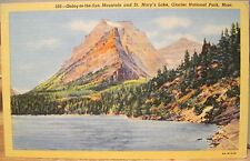 Mt Postcard Going-To-The-Sun Mountain St Marys Lake Glacier National Park Keenan