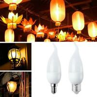 LED Bulb Chandelier Flame Effect Fire Light Emulation Flicker Bulbs Home Decor