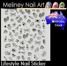 Lifestyle Holiday cute Shoes Bow Nail Art Stickers decoration Craft Supplies
