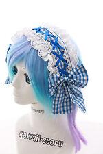 L-209 Gothic LOLITA Blau blue Spitze One Size Haarband Schreife Harajuku cosplay
