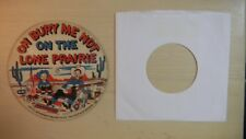 Playsong Cardboard Picture Record OH BURY ME NOT ON THE LONE PRAIRIE 78rpm 1948