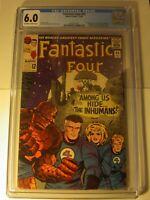 Fantastic Four #45 CGC 6.0, FN,OW/WP, 1965, 1st app. Lockjaw & Inhumans