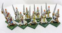 Warhammer High Elves Warriors army lot  painted metal