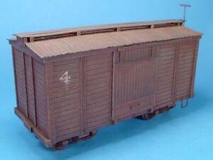WISEMAN MODEL SERVICES 17' WOOD SIDE BOX CAR / YORKE KIT On30 SCALE