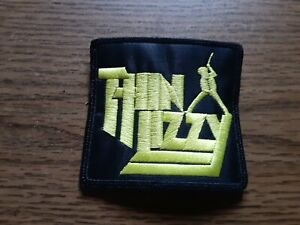 THIN LIZZY,SEW ON YELLOW EMBROIDERED PATCH