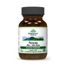 Organic India Neem - 180 Vegetarian Capsules (3 bottle) free shipping