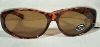 Sonnen-Überbrille 100 % UV Polarisiert f. Brillenträger Polbrille Leo +Putztuch
