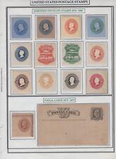 1874-1886 Embossed Envelope Stamp Cut Corners Big Cat Low Price HARRIS Ready