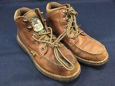 Vtg Georgia Boot Women's Brown Leather  Hike Walk Boots - Sz 6M Eur36.5 G3028