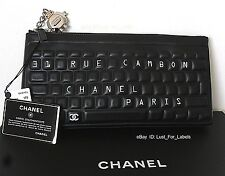 2017 CHANEL Leather O-Case Clutch Robot Charm Keyboard Data Center Pouch Bag NWT