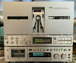 AKAI GX-F90 Cassette Tape Recorder/Player 3-Heads Deck Vintage Working and NICE!