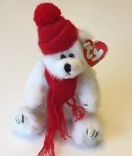 Ty White Winter Bear Peppermint The Attic Treasures 1993 Wrinkled Hang Tag