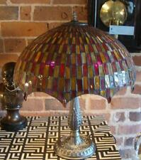 Large Stained Glass Tiffany Table Lamp - 56cm High - 45cm Shade Diameter
