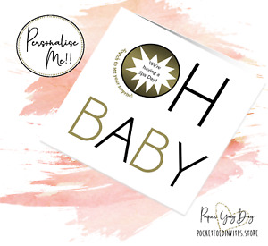 Oh Baby Surprise Card Pregnancy Announcement Gender Reveal. Hidden Message Card