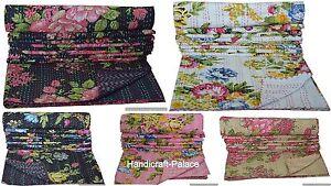Indien Coton Set Bohème Literie Double Taille Floral Imprimé Couverture