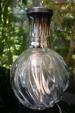 "ANTIQUE LAMPE BERGER CRYSTAL PARIS MADE IN FRANCE  ""BN TORSADE SILVER"" 1970"