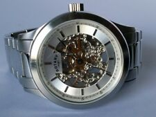 Rotary Mens Skeleton Automatic Silver bracelet Watch GB00157 06