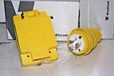 WATER PROOF ELECTRICAL PLUG SET  WOODHEAD 1301470137 & 1301470012