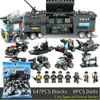 City Special Police Series SWAT:8 IN 1 with Truck Station Building Blocks