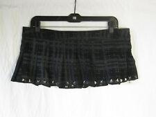 *Lip Service Grey Corrosion of Conformity II Studded Micro Mini Skirt Sample M L
