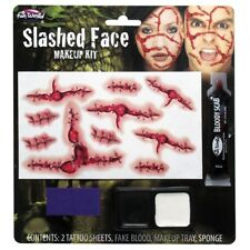 Slashed Face Horror Special Effects Halloween Fancy Dress Make Up