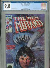 1984 MARVEL NEW MUTANTS #18 1ST APPEARANCE WARLOCK & DEMON BEAR CGC 9.8 BOX9