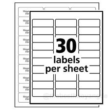 2625x1 Self Adhesive Tag Sticker Label A4 Labels Shipping Address Paper 30up