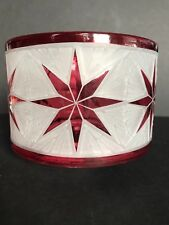Yankee Candle Ruby Star Barrel Candle Shade / New 2017