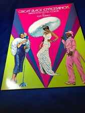 Tom Tierney Paper Doll Book ~ Great Black Entertainers ~  Unused/ Uncut
