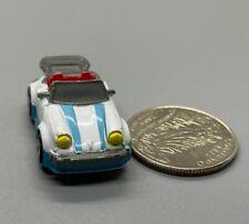 Micro Machines Porsche 911 White W/Blue Stripes 1989 Galoob RARE! Good Cond