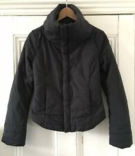 Diesel Women's Black Bear Coat Of Arms Embroidered Quilted Jacket S UK 8 EU 36