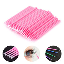 100x Cotton Mini Swabs Disposable Micro Brush Applicators Eyelash Extensions
