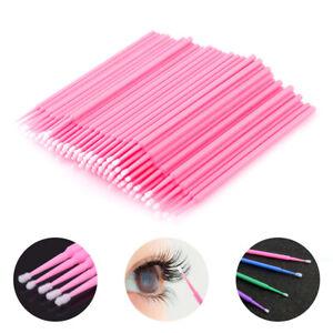100x Cotton Mini Swabs Disposable Micro Brush Applicators Eyelash Extensions