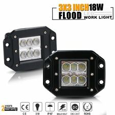 2pcs Dually Flush Mount 18W  LED Pod Lights For Truck Jeep Off-Road ATV Boat