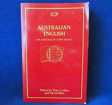Australian English by Peter Collins and David Blair QUP Paperback 1st 1989 Book