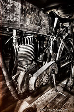 12x18 Poster, Vintage Harley Davidson Motorcycle, Garage Art Man Cave