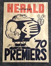 1970 Carlton Blues Premiership Poster ORIGINAL WEG