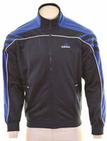 ADIDAS Mens Tracksuit Top Jacket UK 38 Medium Navy Blue Polyester  NC13
