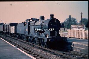 35MM SLIDE BRITISH RAIL RAILWAYS BR - 4F 44558 ON S&DJR AT SHEPTON MALLET 1962